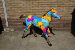 bronzen speciaal gepatineerde rennend paard