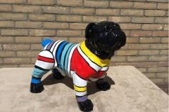 design beeld hand beschilderde bull dog