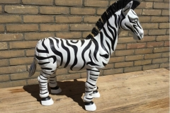 hand beschilderde zebra