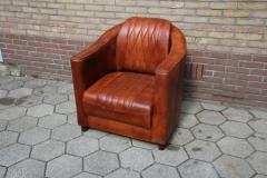 vintage lederen club fauteuil
