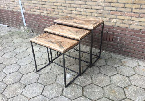 Set van 3 bijzet tafels